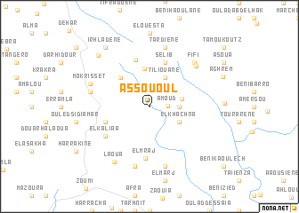 map of Assououl