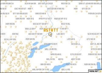 map of Astätt