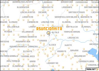 Asunción Mita Guatemala Map Nonanet - Where is asuncion