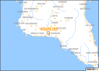 map of Asuncion