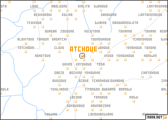 map of Atchoué