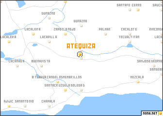 map of Atequiza