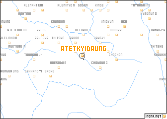map of Atet Kyidaung