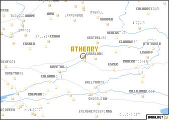 Athenry (Ireland) map   nona.net