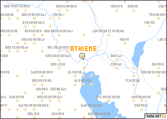 map of Athiémé