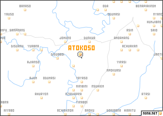 map of Atokoso