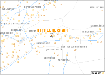 map of At Tall al Kabīr
