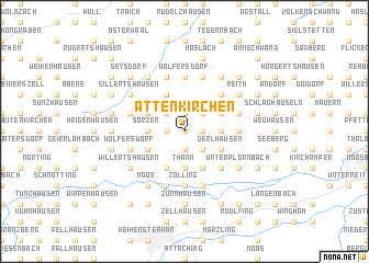 map of Attenkirchen