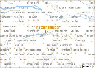 map of Atzenbrugg