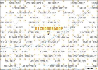 map of Atzmannsdorf