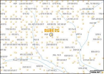 map of Auberg