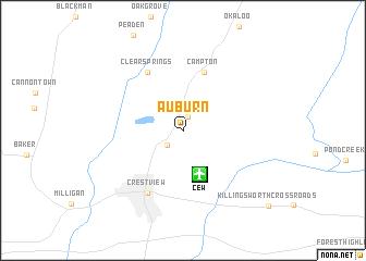 map of Auburn