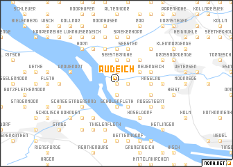 map of Audeich