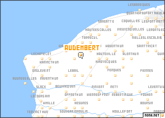 map of Audembert