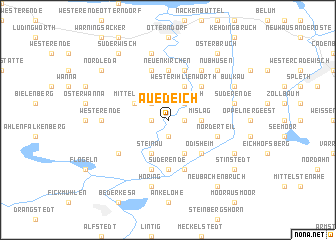 map of Auedeich