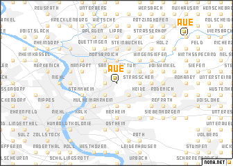 map of Aue