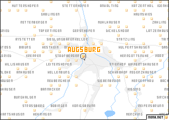 map of Augsburg