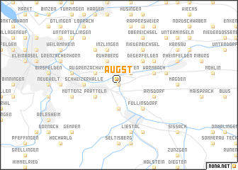 map of Augst