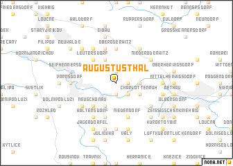 map of Augustusthal
