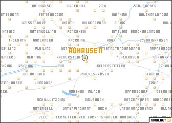 map of Auhausen
