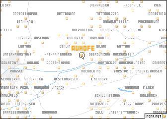 map of Auhöfe