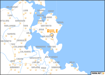 map of Auile