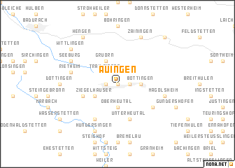 map of Auingen