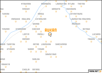 map of Aukan
