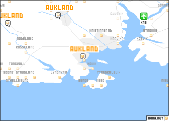map of Aukland