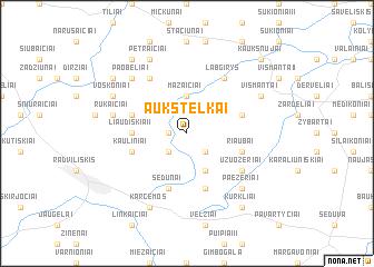 map of Aukštelkai