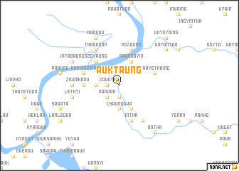 map of Auktaung