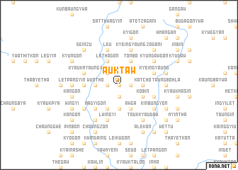 map of Auktaw