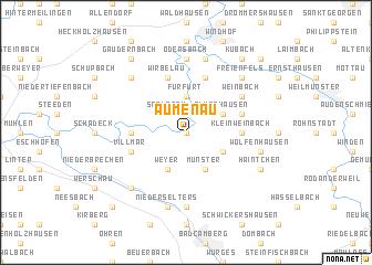 map of Aumenau