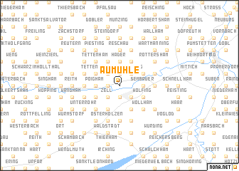 map of Aumühle
