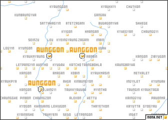 map of Aunggon