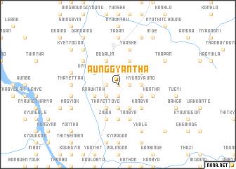 map of Aunggyantha