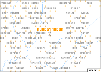 map of Aunggyawgon