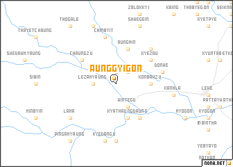 map of Aunggyigon
