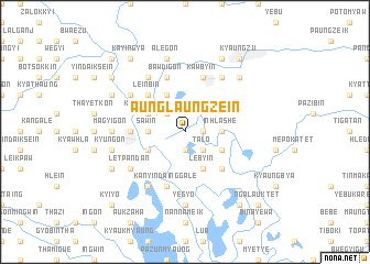 map of Aunglaungzein