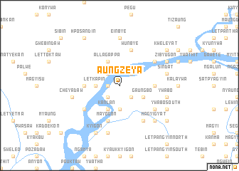 map of Aungzeya