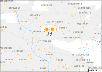 map of Aurant