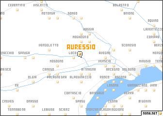 map of Auressio