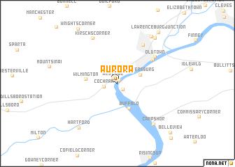 map of Aurora