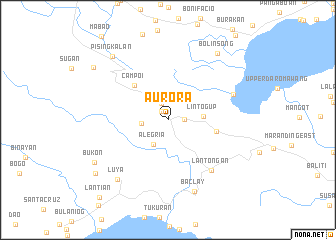 map of Aurora