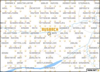 map of Ausbach