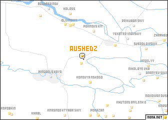 map of Aushedz