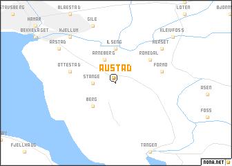 map of Austad