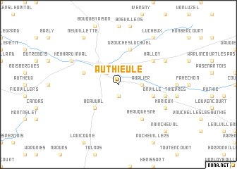 map of Authieule