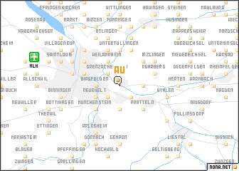 map of Au