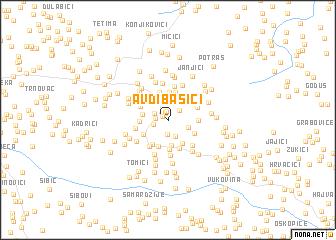 map of Avdibašići